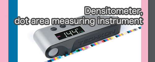 Densitometer, dot area measuring instrument